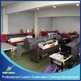 顧客用デジタル昇華印刷ネオンカラー循環ジャージー