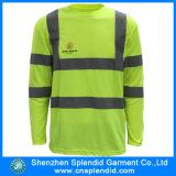 T-Shirt Vêtements de protection à manches longues Hommes Cheap Reflective sécurité