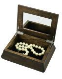 Boîte-cadeau en bois antique de mémoire de bijou