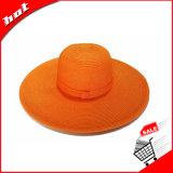 Sombrero de paja de papel flojo de Sun del borde grande