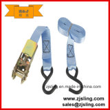 Cinta dobro personalizada 8m x 50mm do Tie-Down da catraca do gancho de J