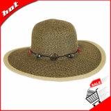 Feminino Feminino Feminino Ladies Floppy Bohemia Straw Hat