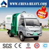 Caminhão pequeno/mini do tirante hidráulico de 5 medidores cúbicos de lixo