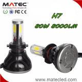 Indicatore luminoso impermeabile del faro H4 LED di 100% 9-36V 3000k 4300k 6000k 8000k 80W LED