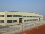 Planta de acero industrial de la estructura de acero el enmarcar/de la luz del almacén