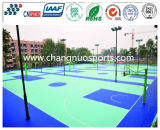 Plancher en caoutchouc coloré et de sûreté de sport, étage décoratif confortable de cour de jeu