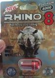 코뿔소 8 백금 8000의 남성 성 제품 증강 인자 환약