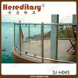 Railing нержавеющей стали отделки зеркала/сатинировки материальный стеклянный для ограждать бассеина (SJ-H824)