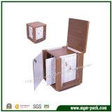Grande casella di memoria di legno su ordinazione per monili