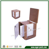Grande caixa de armazenamento de madeira feita sob encomenda para a jóia