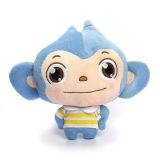 연약한 장난감 동물은 견면 벨벳 파란 원숭이 장난감을 채웠다
