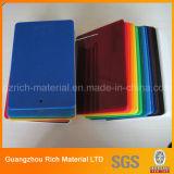 Feuille en plastique givrée de plexiglass de feuille acrylique colorée de moulage