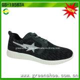 Chaussures respirables de sport d'hommes de chaussures de forme physique noire de haute qualité