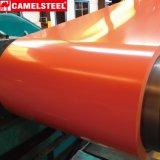 El color cubrió la bobina de acero de acero de la bobina PPGI/la hoja de acero galvanizada prepintada
