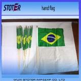 Bandierine poco costose della mano di 100%Polyester 30*45cm Brasile per incoraggiare