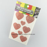 Элементов стикеров формы сердца стикеры Rhinestone этикет кристаллический кристаллический для тела (TS-550)