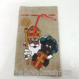 Bolsa del regalo del lazo del yute de la Navidad