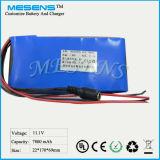 Mesens nachladbares Lithium Battery11.1V 7800mAh