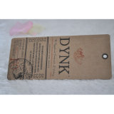 Kraft Paper Swing Tag para Jeans/Clothing/Apparel