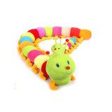 Jouet mou de vis sans fin colorée de jouet d'animaux de peluche bourré par dessin animé mignon