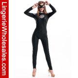 Halloween-Partei-Kleid-Schwarzes Catsuit Kostüm der reizvollen Frauen