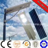 5 indicatore luminoso di via integrante di Bridgelu LED di via della lega di alluminio del comitato solare di W 12V e della batteria di litio LED dell'alloggiamento solare dell'indicatore luminoso