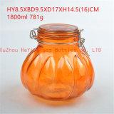 カボチャガラス瓶のオレンジカボチャシール・ガラスの容器
