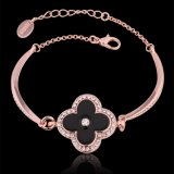 Goldtschechische Bohrgerät-Blumen-Form-hängender Charme-Armband-Entwurf der Form-18k Rose für Yong-Mädchen
