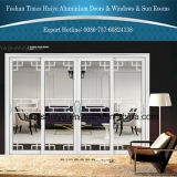 portas deslizantes resistentes de alumínio da espessura de 1.6mm com vidro Tempered