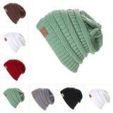 Chapeau chaud de logo de l'hiver fait sur commande de mode, chapeau de Beanie, chapeau tricoté par jacquard dans la diverse taille, matériau et modèle