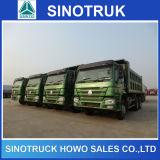 後部ひっくり返るダンプトラックHOWOの貨物自動車のダンプカートラック