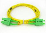 Fibra su un lato o duplex Patchcord 0.2dB del cavo di zona della fibra di Sc/APC