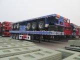 최신 판매인 2 차축 40ft와 20ft 콘테이너 평상형 트레일러 트레일러