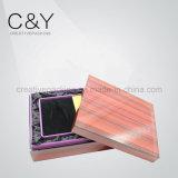 Caixa de presente de madeira do revestimento de duas partes da madeira contínua para o pacote do perfume