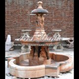 Fontana rossa della scultura di tramonto per la decorazione domestica Mf-153