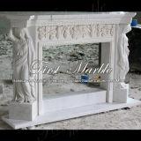 Camino bianco Mfp-106 di Carrara del camino del camino di pietra del camino di marmo del granito