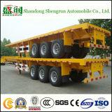 3 Aanhangwagen van de Container van assen 40FT Flatbed Semi voor 40FT Container