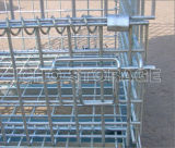 Ce Approved Folding e Stackable Storage Cage/Galvanized Wire Mesh Container