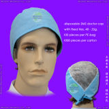 Nonwoven/PP/Medical/Surgical/Protective/Operation/Space/Disposable Surgeon Cap, Disposable Round Cap, Disposable Hood mit Face Mask, Disposable Astronaut Cap