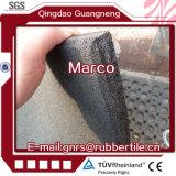 Mattonelle di gomma Portare-Resistenti della pavimentazione di sport della fabbrica di pavimento delle mattonelle delle mattonelle di gomma di gomma dell'interno dirette di gomma di gomma di ginnastica
