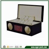 Dobadoura de madeira de envernizamento lustrosa preta do relógio