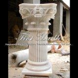 Colonna di marmo bianca per la decorazione domestica Mcol-308