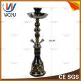 Schwarze Rohr-Schlauch-GlasHuka-rauchendes Set