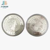 40 mm는 999 선전용 선물을%s 은 큰 메달 금속 기념품 도전 동전을 주문을 받아서 만들었다