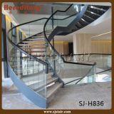 Escalera espiral del pasamano de cristal para de interior (SJ-X1070)