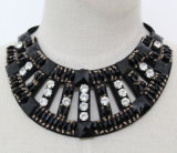 Collar fornido cristalino del collar del ahogador del cuadrado de la joyería de traje de la manera de las mujeres