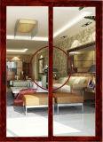 Porte en bois en aluminium intérieure de porte coulissante de Guangdong