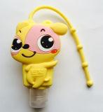 黄色いカラーハンド・ローションディスペンサーのホールダー