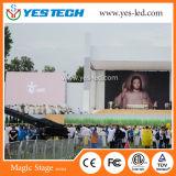 Parede interna ao ar livre energy-saving do vídeo do diodo emissor de luz da cor cheia de P4.8mm
