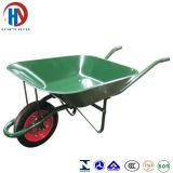 Pintar o Wheelbarrow verde da bandeja